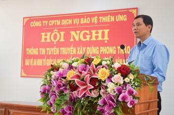 Thiên Ưng Security tổ chức Hội nghị tuyên truyền pháp luật cho nhân viên bảo vệ